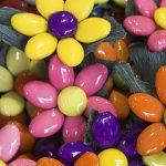 tipici confetti di sulmona lavorati come margherite