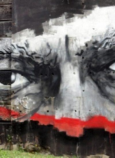 murales dedicato a edoardo sanguineti l'aquila